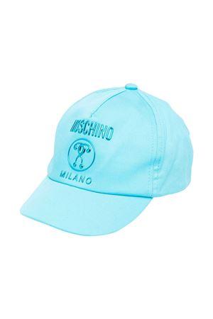 Cappello con visiera azzurro teen con logo Moschino kids MOSCHINO KIDS | 75988881 | HTX001L0A0040522T
