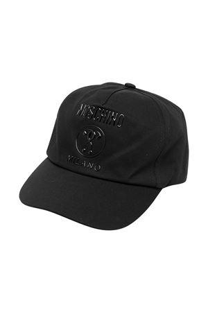 Cappello con visiera nero con logo Moschino kids MOSCHINO KIDS | 75988881 | HTX001L0A0060100