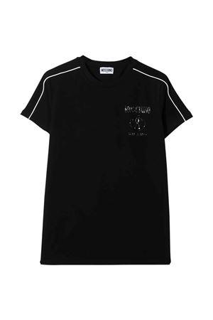 Moschino Kids black t-shirt  MOSCHINO KIDS | 8 | HUM032LBA1060100