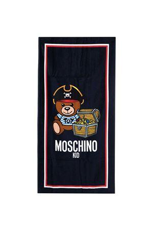 Telo mare blu con stampa Moschino kids MOSCHINO KIDS | 5032317 | HUX01BLGA1040016