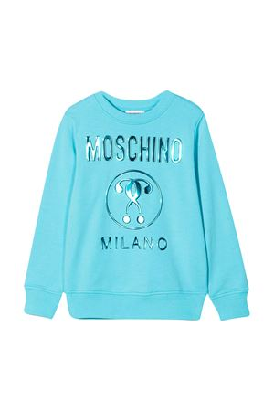 Felpa azzurra con logo Moschino kids MOSCHINO KIDS | 7 | HYF039LDA2540522