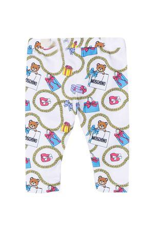 Moschino Kids white leggings  MOSCHINO KIDS | 411469946 | M3P02BLBB5284244