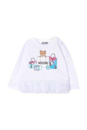 Moschino Kids white sweatshirt  MOSCHINO KIDS | 7 | MDF025LDA0010101