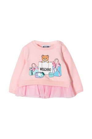 Moschino Kids pink sweatshirt  MOSCHINO KIDS | 7 | MDF025LDA0050209