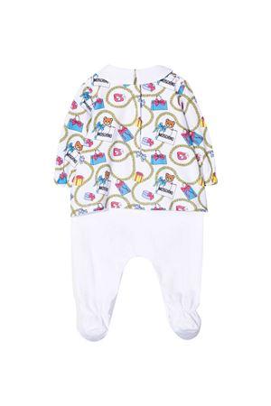 Set pigiama e cappello bianco Moschino kids con dettagli multicolor MOSCHINO KIDS | 1491434083 | MDY00LLBB5284244