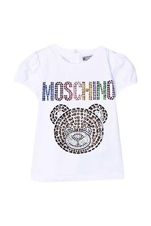 White T-shirt Moschino kids  MOSCHINO KIDS | 8 | MEM02BLBA1010101