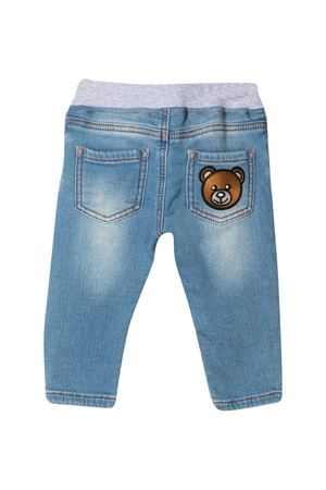 Jeans blu Moschino Kids con applicazione Teddy Bear MOSCHINO KIDS | 9 | MMP03ELDE0840196