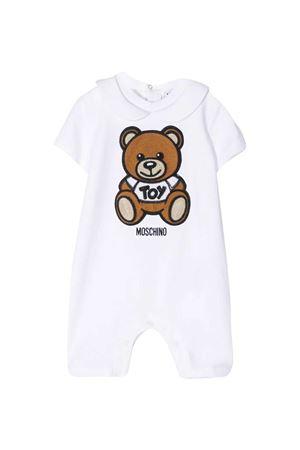 White short-sleeved romper Moschino Kids MOSCHINO KIDS | -1617276553 | MMT01HLBA1010101