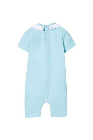 Blue short-sleeved romper Moschino Kids MOSCHINO KIDS | -1617276553 | MMT01HLBA1040304