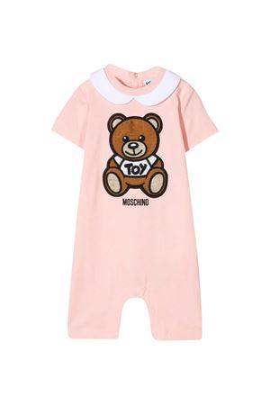 Pink short-sleeved romper Moschino Kids MOSCHINO KIDS | -1617276553 | MMT01HLBA1050209