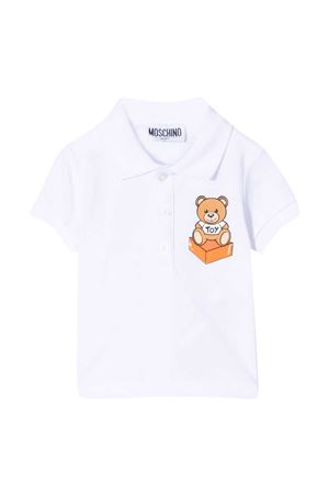 Polo bianca Moschino kids MOSCHINO KIDS | 2 | MQM01PLFA0110101