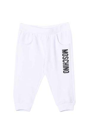 White Moschino Kids joggers  MOSCHINO KIDS | 9 | MRP023LDA2710101