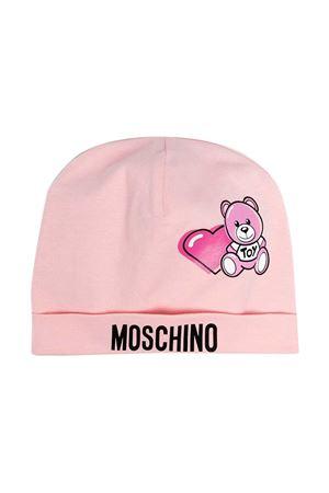 Moschino Kids pink beanie  MOSCHINO KIDS | 75988881 | MUX03GLBA0050209