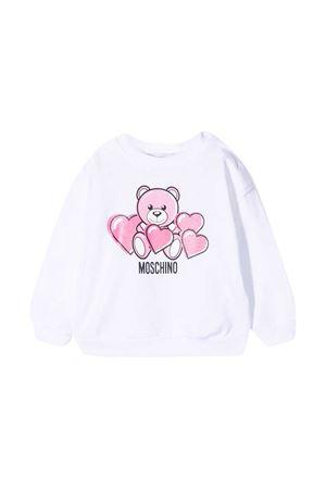 Felpa bianca Moschino Kids MOSCHINO KIDS | 1169408113 | MVF02ZLDA0082544