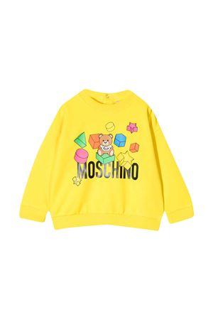 Felpa gialla Moschino Kids MOSCHINO KIDS | 1169408113 | MWF02ZLDA1250162