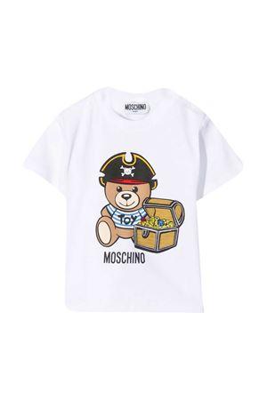 T-shirt bianca Moschino Kids MOSCHINO KIDS | 8 | MWM02ALBA0810101
