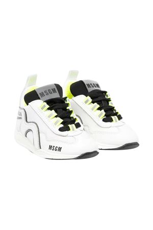 Sneakers bianche e nere con dettagli giallo fluo Msgm kids MSGM KIDS | 12 | 672161