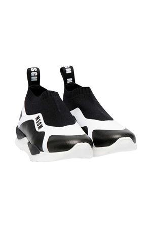 Sneakers slip-on bianche e nere Msgm kids MSGM KIDS | 12 | 672752