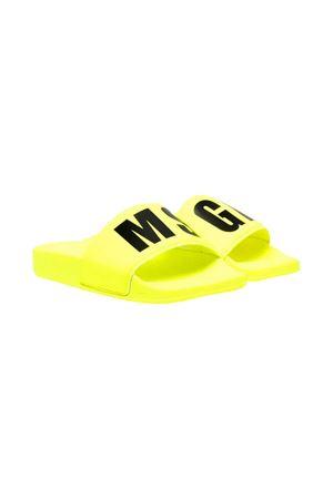 Ciabatte gialle teen con logo nero Msgm kids MSGM KIDS | 11041766 | 673023T