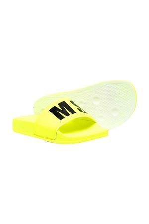 Yellow slippers with black logo Msgm kids MSGM KIDS | 11041766 | 673023