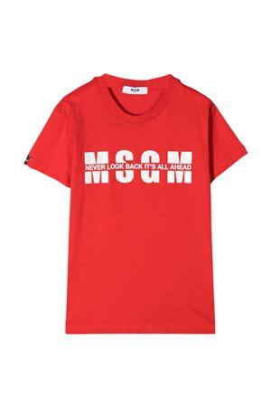T-shirt rossa MSGM kids MSGM KIDS | 8 | MS026817042