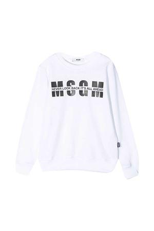 White MSGM Kids sweatshirt  MSGM KIDS | -108764232 | MS026818001