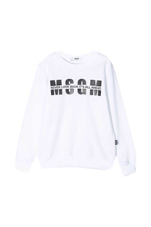White sweatshirt teen MSGM Kids  MSGM KIDS | -108764232 | MS026818001T
