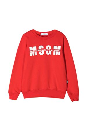 Red sweatshirt teen MSGM Kids MSGM KIDS | -108764232 | MS026818040T