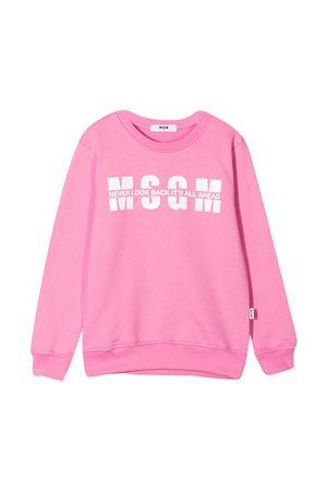 Felpa rosa teen Moncler Enfant MSGM KIDS | -108764232 | MS026818042T