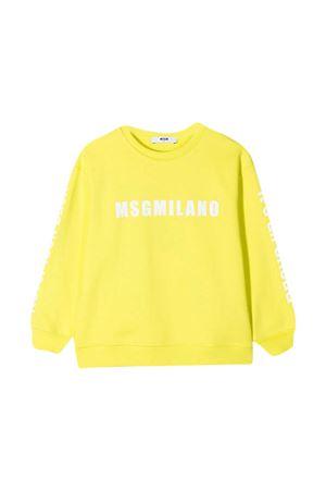 Yellow teen sweatshirt MSGM kids MSGM KIDS   -108764232   MS026828086T