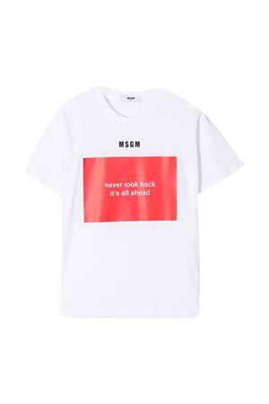 T-shirt bianca MSGM kids MSGM KIDS | 8 | MS026833001/06
