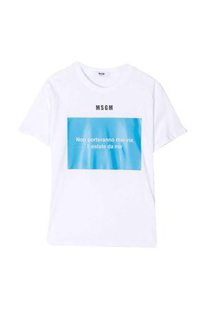 T-shirt bianca MSGM kids MSGM KIDS | 8 | MS026833001/15