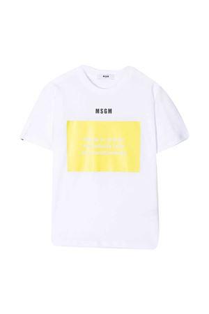 T-shirt bianca MSGM kids MSGM KIDS | 8 | MS026833001/36