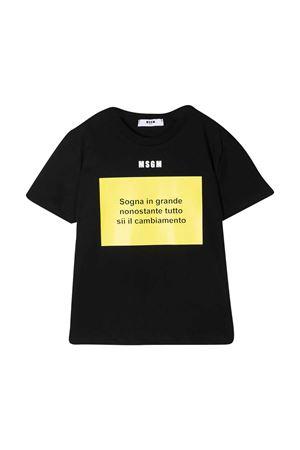 T-shirt nera teen MSGM kids MSGM KIDS | 8 | MS026833110/41T