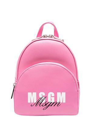 Zaino rosa con logo Msgm kids MSGM KIDS | 5032345 | MS026858042