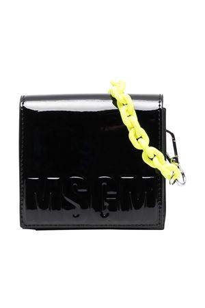 Borsa a spalla nera con tracolla gialla Msgm kids MSGM KIDS | 31 | MS026880110