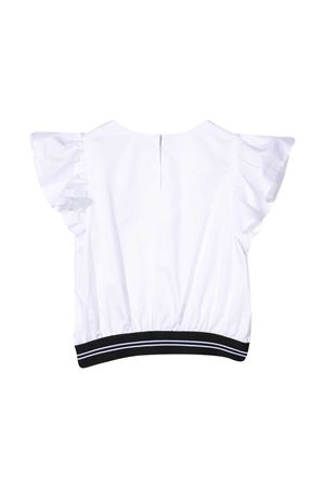 Blusa bianca con banda logata nera Msgm kids MSGM KIDS | 194462352 | MS026885001