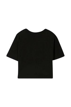 T-shirt nera con logo frontale Msgm Kids MSGM KIDS | 8 | MS026939110