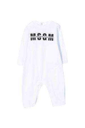 Tutina bianca con stampa nera Msgm kids MSGM KIDS | 1491434083 | MS027256001