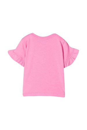 Pink t-shirt with white press and sleeves with flounces Msgm kids MSGM KIDS | 8 | MS027258042