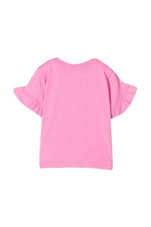 T-shirt rosa con stampa bianca e maniche con balze Msgm kids MSGM KIDS | 8 | MS027258042