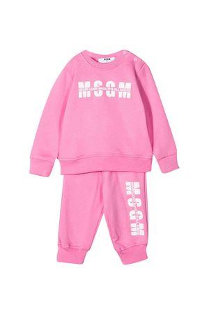 Completo rosa felpa e pantalone con logo Msgm kids MSGM KIDS | 42 | MS027268042