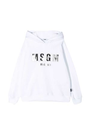 White Msgm Kids sweatshirt  MSGM KIDS | 5032280 | MS027388001
