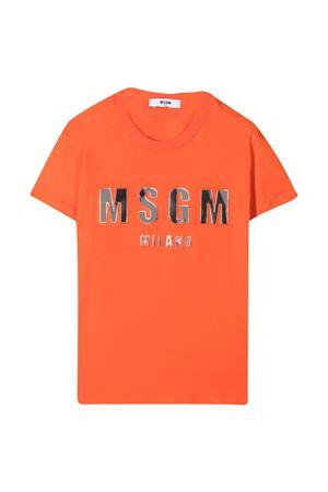 T-shirt arancione Msgm kids MSGM KIDS | 8 | MS027389030