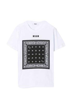 T-shirt bianca MSGM kids MSGM KIDS | 8 | MS027580001/01