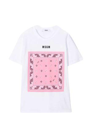T-shirt bianca Msgm Kids MSGM KIDS | 8 | MS027580001/18