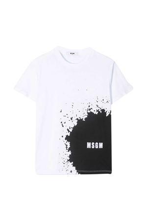 White t-shirt Msgm Kids MSGM KIDS   8   MS027614001