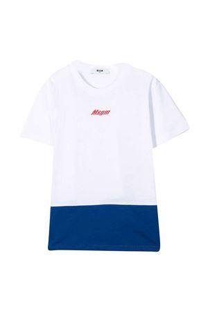 T-shirt bianca teen Msgm Kids MSGM KIDS   8   MS027654001T