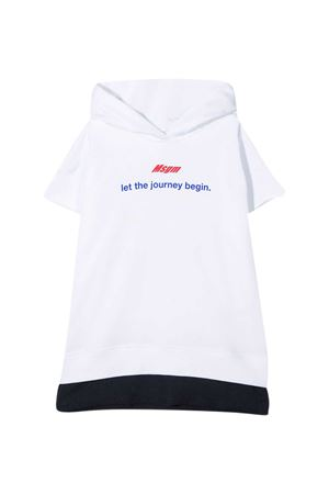 White Msgm Kids sweatshirt  MSGM KIDS | -108764232 | MS027655001