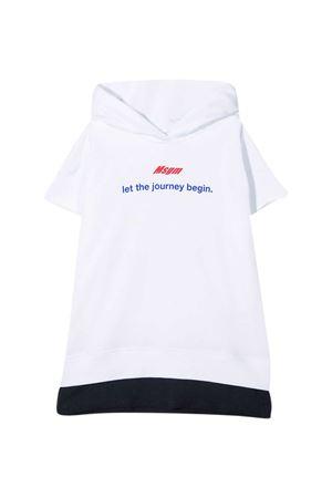 White sweatshirt teen Msgm Kids MSGM KIDS   -108764232   MS027655001T